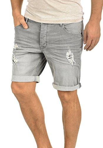 !Solid Toy Herren Jeans Shorts Kurze Denim Hose mit Destroyed-Optik aus Stretch-Material Slim Fit, Größe:L, Farbe:Light Grey (9640)