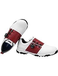 FUBULE Zapatos de Golf Agujas Menos Zapatos Resistencia a la abrasión Antideslizante Impermeable botón Giratorio Multifuncional al Aire Libre