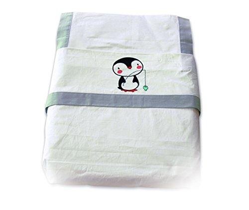 Parure di letto 60x 120cm 3pezzi lenzuolo houese, e federa, 100% cotone