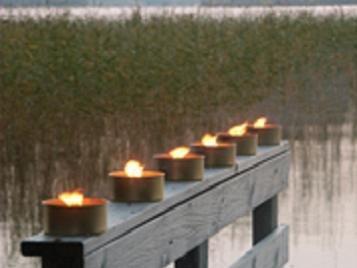 6er Pack wetterfest Outdoor Kerze, Garten Fackel Kerze