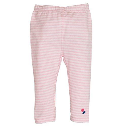 SALT AND PEPPER Baby-Mädchen Leggings B Leggins Summer Stripe, Rosa (Rose Melange 810), 80 810 Rosen