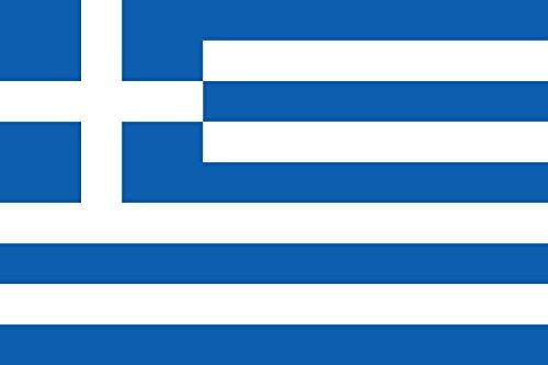 Preisvergleich Produktbild Unbekannt Flagge Griechenland | Querformat Fahne | 0.06m² | 20x30cm für Diplomat-Flags Autofahnen