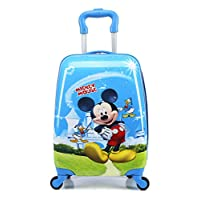 "18"" McQueen Elsa Anna Barbies Micky Mouse Minnie Minion Spiderman Children Kids Holiday Travel Character Suitcase Luggage Trolley Bags"