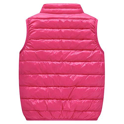 Aiweijia Baby Mädchen Jungen Kinder Herbst Winter Leichte ärmellose Jacke Gilet Warme Weste Mantel Stehkragen Tasche Heißer Oberbekleidung Hals Tasche Oberbekleidung