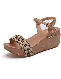 HOESCZS Tacones Altos Sandalias Mujer Verano Zapatos De Plataforma De Tacón Alto Plataforma Impermeable Muffin con