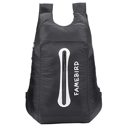 FAMEBIRD Leichter Packbarer Wanderrucksack, klein, wasserdicht, Reise-Tagesrucksack, 25 l, für Damen, Herren, Kinder