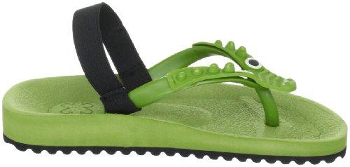 Flip Flop croco 30223, Sandales mixte enfant Vert-TR-C3-74
