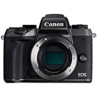 Canon EOS M5 - Cámara Evil DE 24.2 MP (Pantalla táctil DE 3.2'', DIGIC, NFC, Dual Pixel CMOS, Hybrid Auto, HDR, Bluetooth, ISO, EF Lenses, Remote Shooting, Manual Movie, Full HD, WiFi) Negro