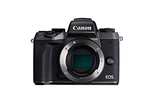 Canon EOS M5 - Cámara Evil DE 24.2 MP (Pantalla táctil DE 3.2'', DIGIC, NFC, Dual Pixel CMOS, Hybrid Auto, HDR, Bluetooth, ISO, EF Lenses, Remote Shooting, Manual Movie, Full HD, WiFi) Negro