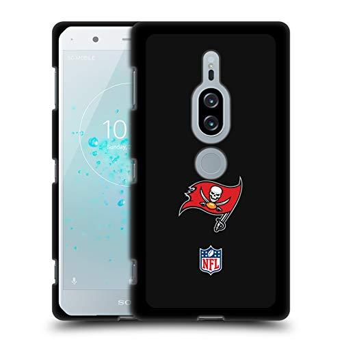 Head Case Designs Offizielle NFL Einfarbig Tampa Bay Buccaneers Logo 2 Soft Gel Hülle Schwarz für Sony Xperia XZ2 Premium
