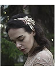 Rose Gold Nude Beaded Headband Fascinator Vintage 1920s Great Gatsby Flapper S63 *EXCLUSIVELY SOLD BY STARCROSSED BEAUTY* by Starcrossed Beauty