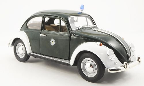 VW Käfer, Polizei Stuttgart, dkl.-grün/weiss , Modellauto, Fertigmodell, Yat Ming/Collection 711 1:18