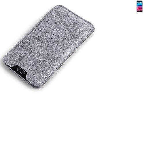 K-S-Trade Filz Schutz Hülle für Archos Core 55 4G Schutzhülle Filztasche Filz Tasche Case Sleeve Handyhülle Filzhülle grau