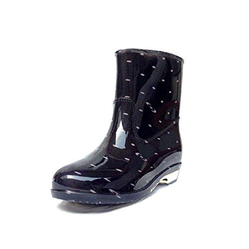 ménage de plein air Mlle bottes de pluie Black