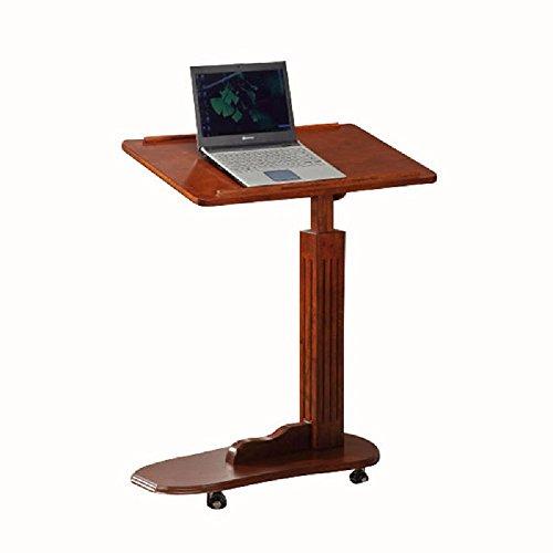 KHSKX Massivholz zu heben, Laptop-Tisch, Moving-Bett-Tisch, Nachttisch, Euro Couchtisch, kleiner Tisch Schwarz Bücherregal Nachttisch