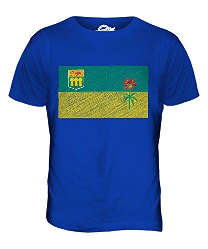 CandyMix Saskatchewan Kritzelte Flagge Herren T Shirt Königsblau