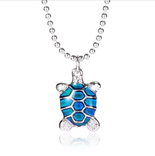Mode Neckalce Farbe Schildkröte Temperatur Änderung Farbe Gefühl Emotionale Farbe Geschenke Kreative Magie Schmuck Stimmung Halskette (Temperatur Schildkröte)