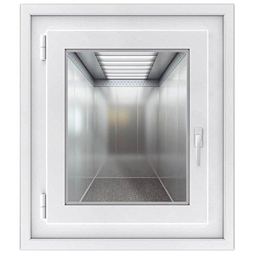 Fensterfolie - dekorativer Fensteraufkleber | hochwertige Glasdekofolie - selbstklebendes Fensterbild für Spiegel u. Fenster | Fenstersticker - einfach anzubringen | Design Elevator - 40 x 50 cm