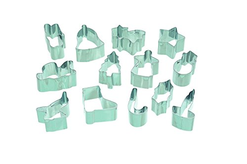 Lets Make Metall Christmas Cookie Cutter Set (Cookie Display-boxen)