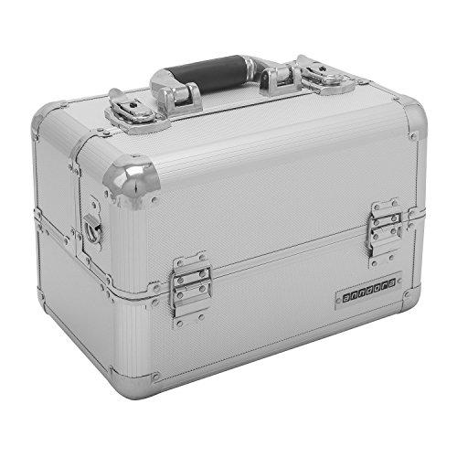 anndora Beautycase Multikoffer Visagistenkoffer Aluminium 20 Liter silber