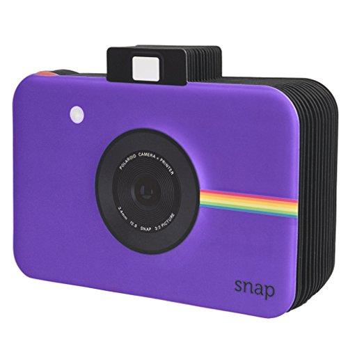 Polaroid Scrapbook Fotoalbum mit Schnappschuss-Themeneinband für 5 x 7, 5 cm Fotopapier-Projekte (Snap, Zip, Z2300) - lila (5x7 Fotoalbum)