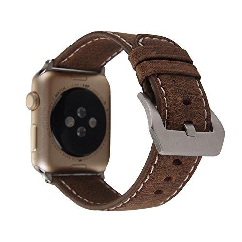 komise Classic Leder Gurt Ersatz Watch Band Wrist Strap für Apple Watch 42mm Einheitsgröße Multicolour D (Watch Bands Ersatz Seiko)