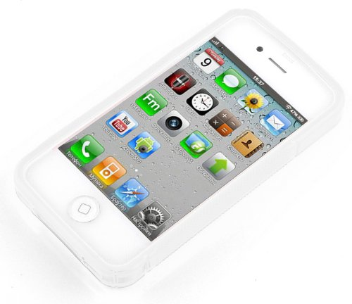Apple iPhone 4 / 4S / 4G Silikon-Hülle in LILA von Cadorabo - S-Line Design TPU Schutz-hülle – Handy-hülle Bumper Case Cover in FLIEDER-VIOLETT MAGNESIUM-WEIß