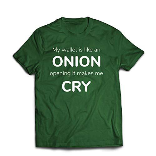 Familie Ideen Für Einzigartige Kostüm - lepni.me Männer T-Shirt Meine Brieftasche ist wie eine Zwiebel, Kein Geld Lustiger Job, Büro-Humor (Medium Dunkelgrün Mehrfarben)