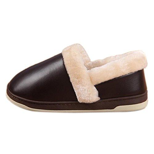 Caldi Morbide Scarpe Dell'interno Casa Fasion Di Donne Cotone Nuovi Pantofole E Uomini Casa Marroni Skid vvqFx8H