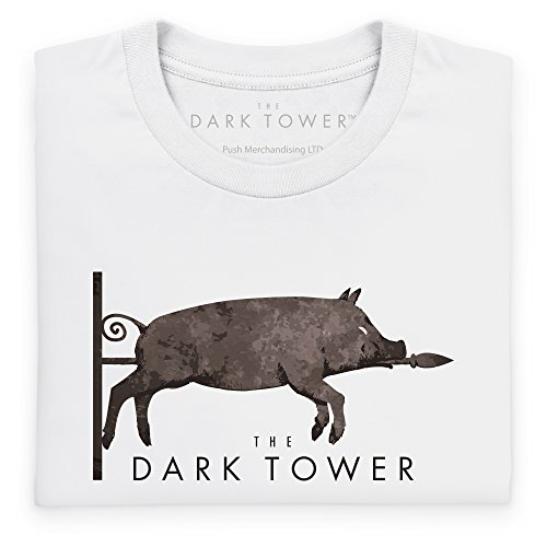Official The Dark Tower Dixie Logo Langarmshirt, Herren Wei