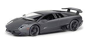 Rmz City Die Cast Lamborghini Murcielago LP6704, Matte Black (5-inch)