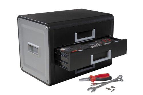 kwb Werkzeugbox Home Tool Box 400100 (mit 90-teiligem Werkzeug, zur Aufbewahrung im Wohnzimmer)