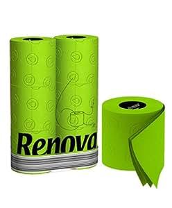Pack de 6 rouleaux papier toilette WC de couleur vert