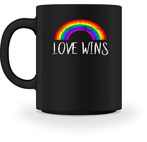 Shirt Liebe Und Frieden Kostüm - Love Wins - Liebe Gewinnt - Peace Frieden Motiv - Schlichtes Und Witziges Design - Tasse