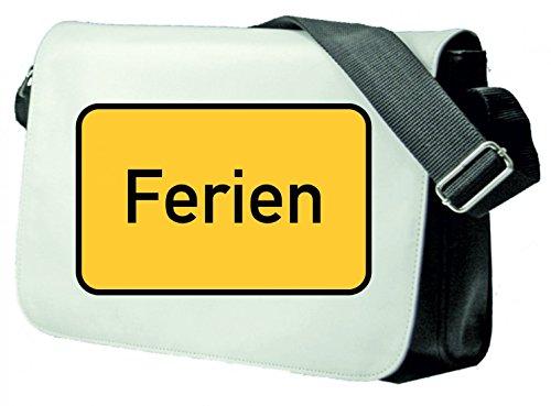 Druckerlebnis24  Schultertasche_Emoji_9001, Borsa Messenger , nero (nero) - Schultertasche_Weiss_Motiv_10577 nero