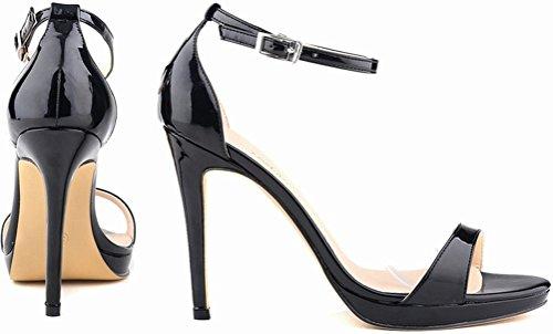 CFP , Damen Peep Toes , schwarz - schwarz - Größe: 41