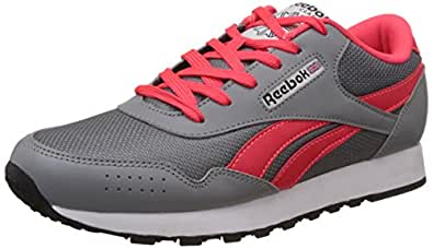 Reebok Classics Women's Classic Proton Grey, Pink, White and Black Sneakers - 8 UK