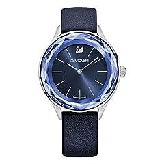 Idea Regalo - Swarovski Orologio Octea Nova, Cinturino In Pelle Blu, Acciaio Inox, da Donna