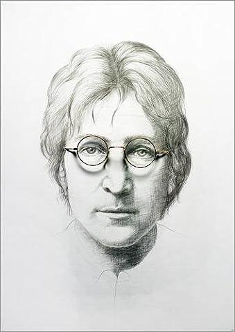 Leinwandbild 30 x 40 cm: Lennon von Trevor Neal / Bridgeman Images - fertiges Wandbild, Bild auf Keilrahmen, Fertigbild auf echter Leinwand, Leinwanddruck