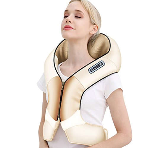 Spalla massaggiatore shiatsu multi-vest collo, spalla, ginocchio, impastare, riscaldamento, famiglia, cintura portatile indossabile scialle in pelle pu