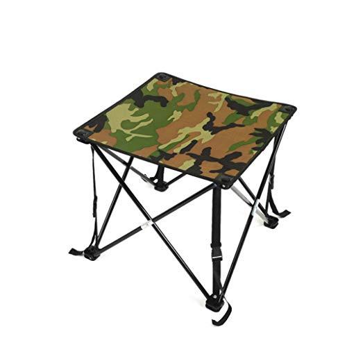 WangYi Table pliable- Table pliante de camouflage de loisirs en plein air, table en aluminium de pique-nique portable, table de camouflage de plage (Couleur : Camouflage, taille : 48x48x46cm)