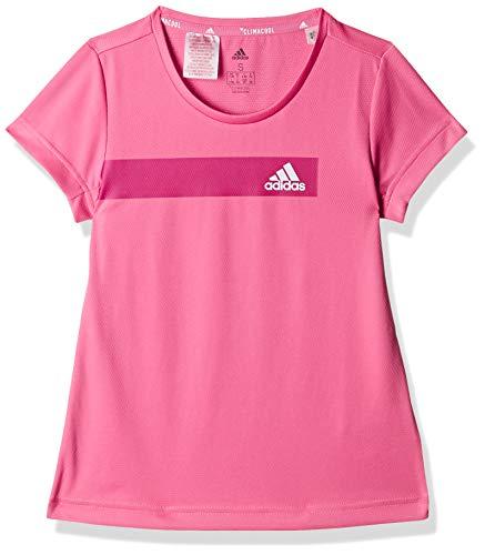 adidas Mädchen Training Cool T-Shirt, Semi Solar Pink/White, - Shirt Tennis Damen Adidas