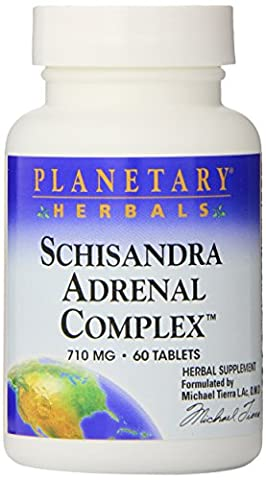 Planetary Herbals (Formerly Planetary Formulas) Schizandra Adrenal Support - 60 - Tablet