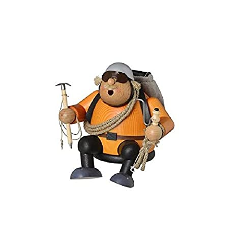 KWO Sitting Mountain Climber Mountaineer German Wood Christmas Incense Smoker