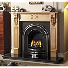 Castec Victorian Royal Arch Polished Fireplace Complete With Fire