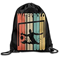DHNKW Unisex Gym Bag Vintage Retro Style Water Polo Drawstring Backpack Bag  Beam Mouth Sports Sackpack 9bc2125bf9d1f