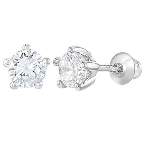 595f1936142c In Season Jewelry - 925 Plata de Ley con Circonitas Claras Aretes con Cierre  de.
