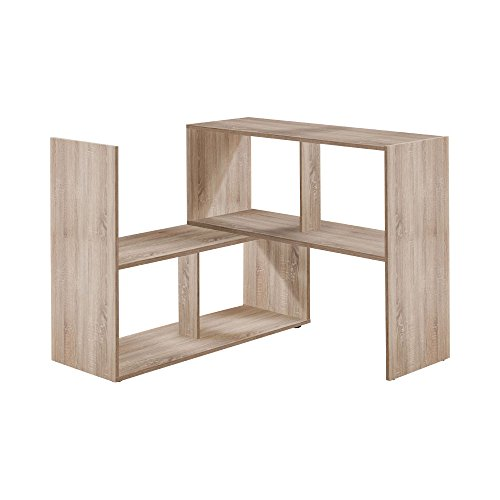 FMD Möbel 264-100 STRETCH 100 Regal, Holz, eiche, 94.7 x 33 x 74.2 cm