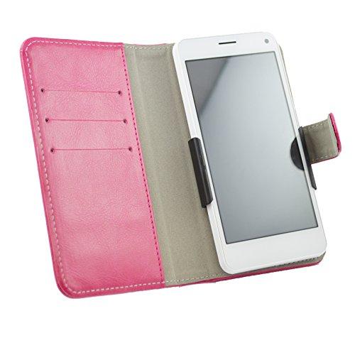 Slide Tasche Hülle Case Cover Schutz Cover Etui Pink für Archos 40 Neon