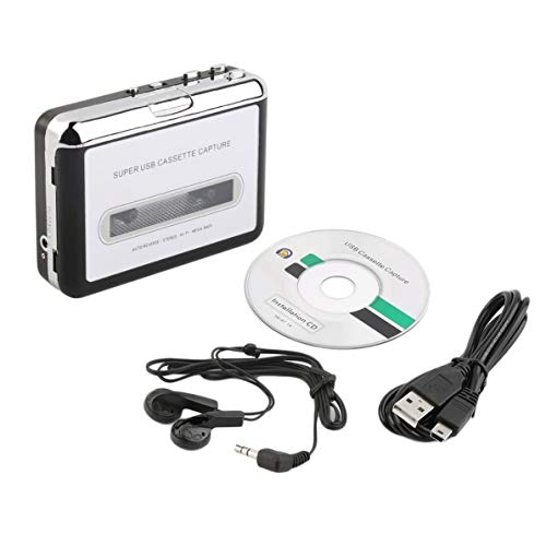 Corneliaa-DE Tape to PC Super USB Cassette-to-MP3 Converter Capture Audio Music Player Super Audio Converter